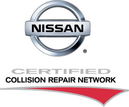 nissan certified collision repair logo